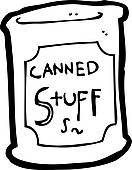 132x170 Canned Food Clipart Black And White Clipart Panda