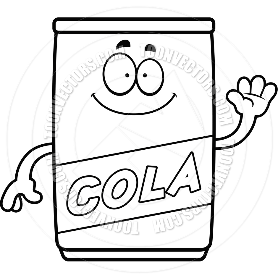 940x940 Cola Clipart Black And White