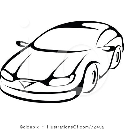 400x420 Car Line Drawing Clip Art