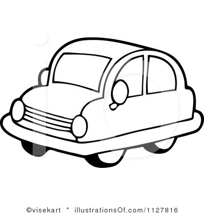 400x420 Car Clipart Black And White
