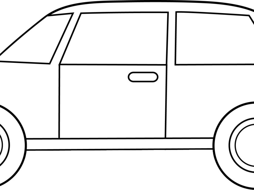 830x623 Free Black And White Car Clipart