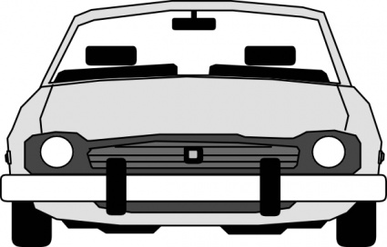 425x272 Mustang Car Clipart Black And White Car Front View Clip