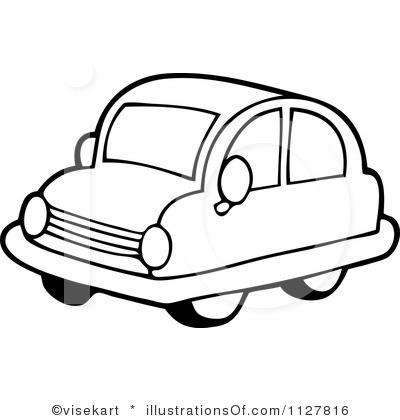 400x420 Car Clipart Black N White