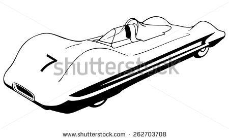 450x276 Drawn Race Car Black And White