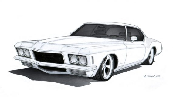 570x320 How To Draw A Muscle Car Black And White Car Drawings Clipartsco