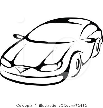 400x420 Auto Black And White Clipart