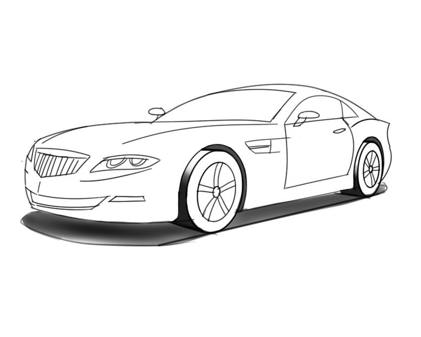 848x680 Junior Car Designer Learn How To Draw Cars Step By Step