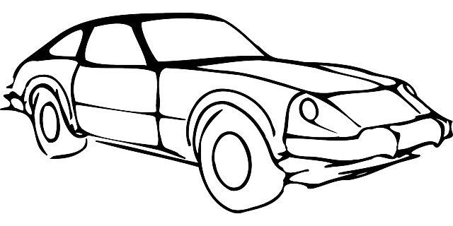 640x320 Black, Outline, Drawing, Silhouette, Car, White Clipart Idea