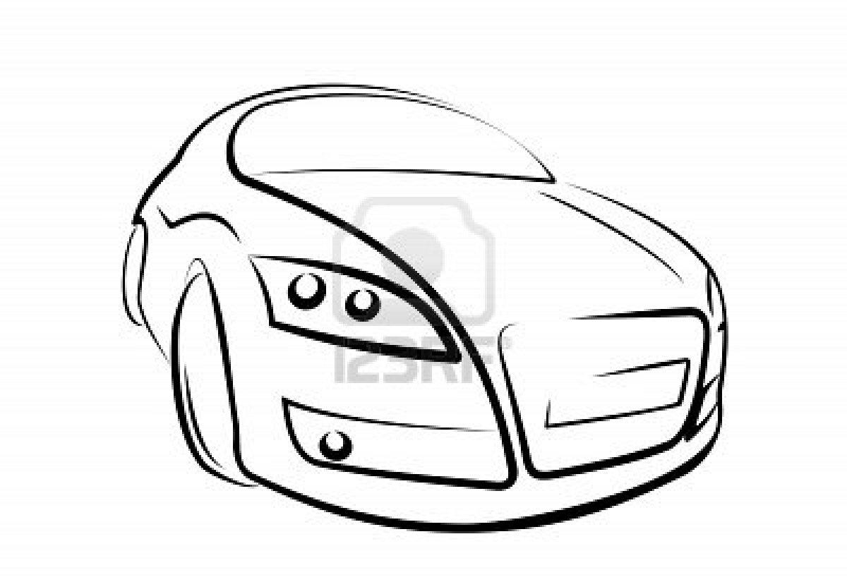 1200x825 Black And White Car Drawings 5 Desktop Wallpaper