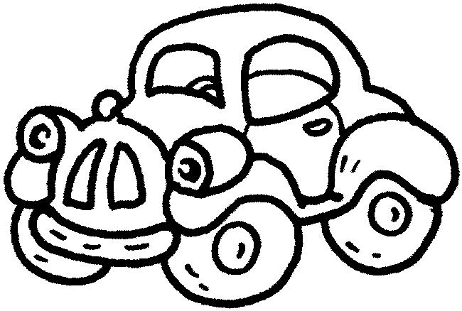 650x438 Black And White Car Drawings