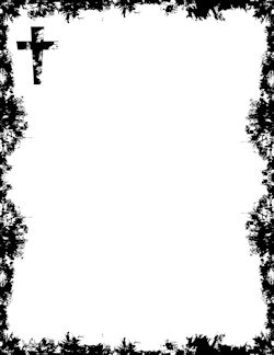 Black And White Christmas Border