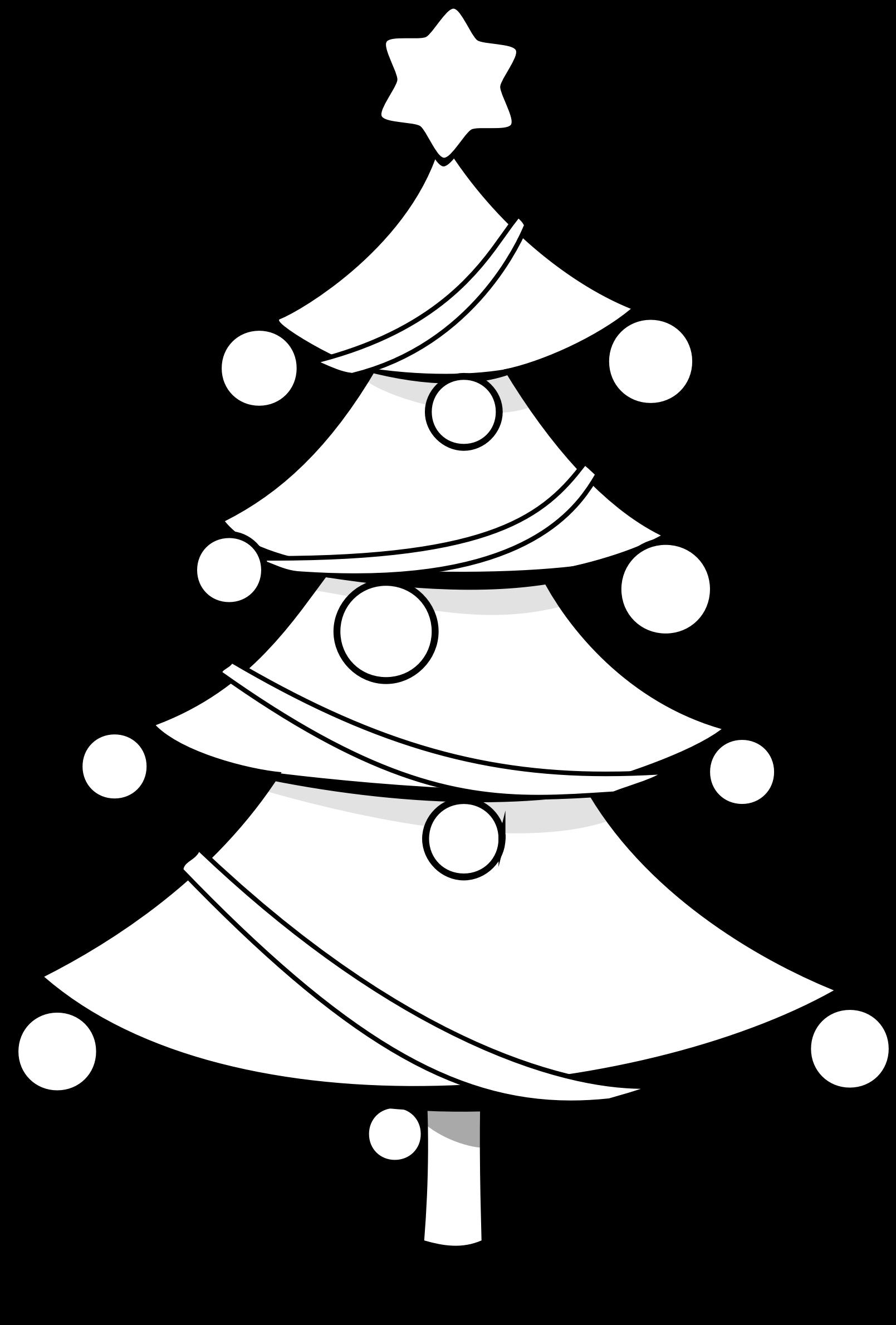 1609x2380 Christmas Tree Clip Art Black And White Fun For Christmas