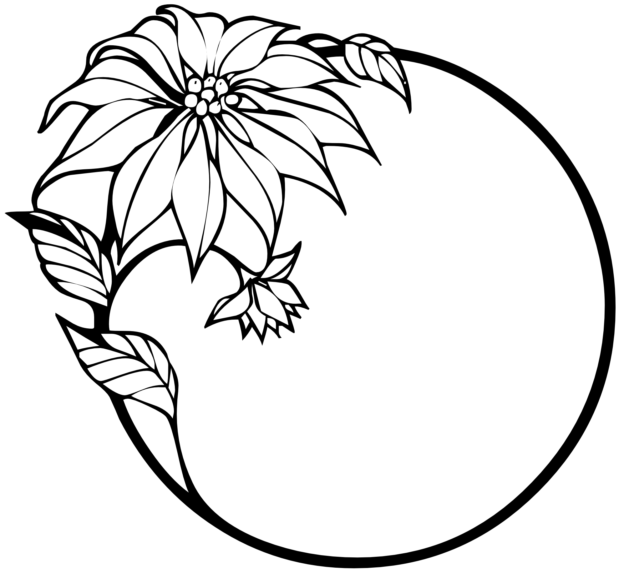 1979x1834 Black And White Christmas Clip Art Free