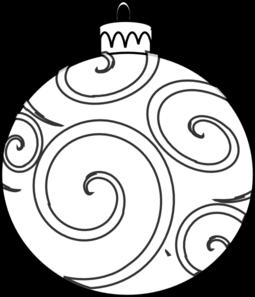 255x297 Black And White Ornament Clip Art