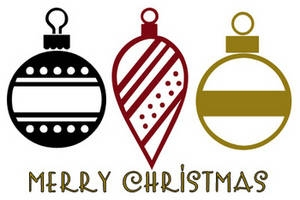 300x200 Christmas Ornament Clipart Black And White Fun For Christmas