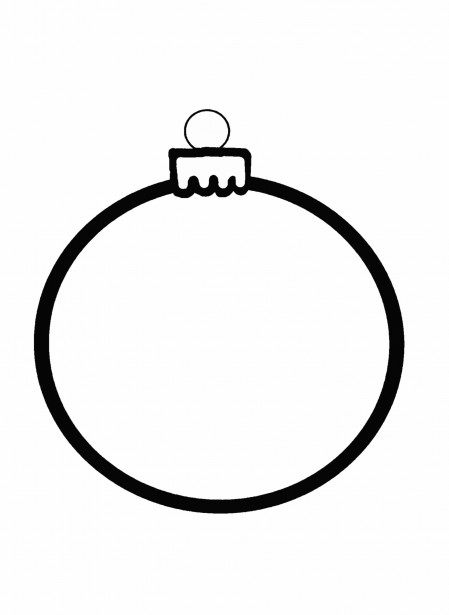 449x615 Christmas Ornament Outline Clipart