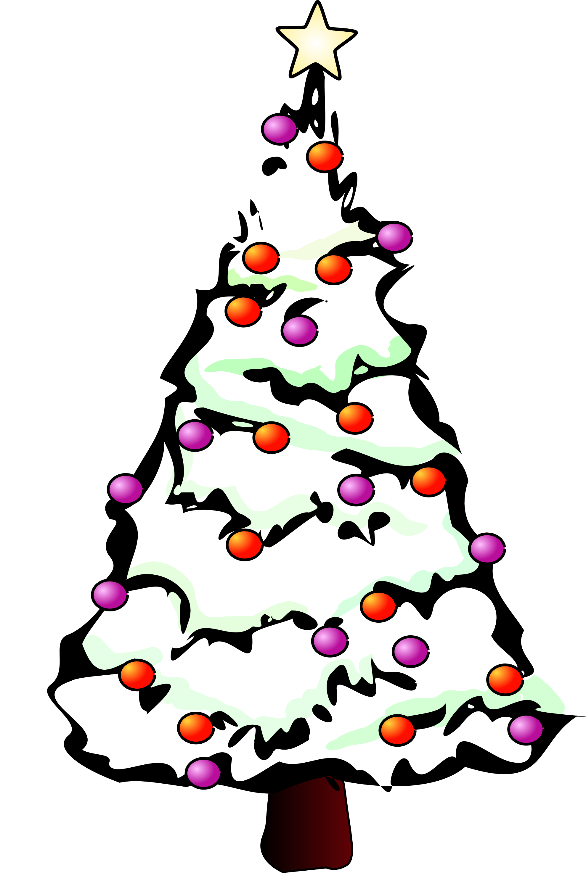 1979x2950 Christmas Tree Black And White Clipart