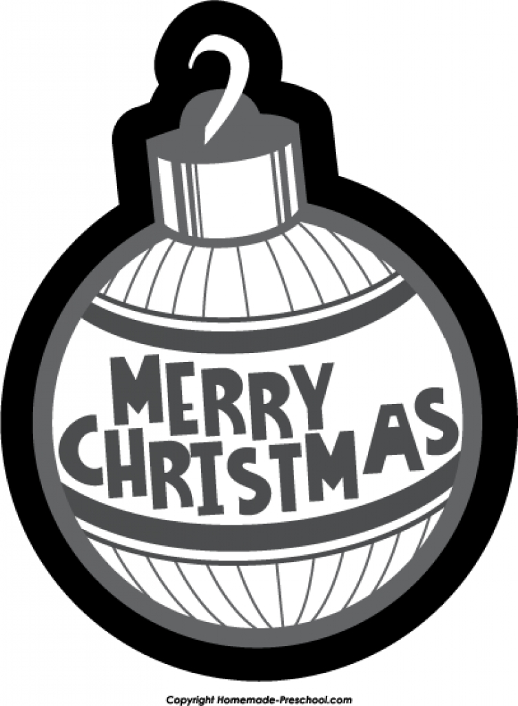 752x1024 Christmas Ornament Black And White Designcorner Clip Art