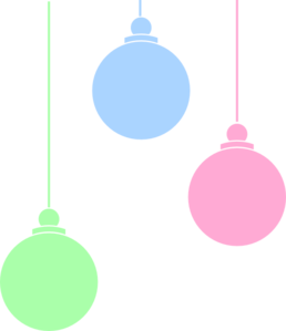 258x299 Hanging Christmas Ornament Clipart Black And White