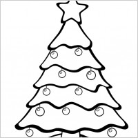 200x200 Twelve Black And White Isolated Christmas Tree Setroyalty Free