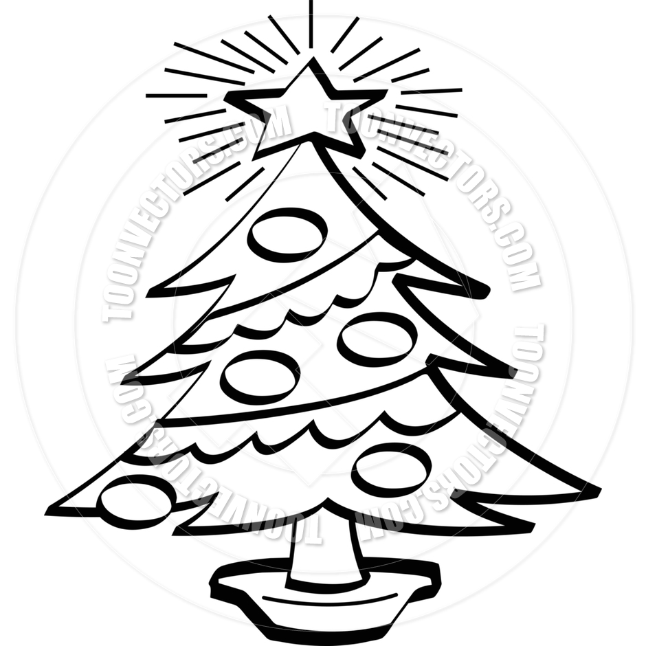 Black And White Christmas Tree Clipart Free Download Best Black