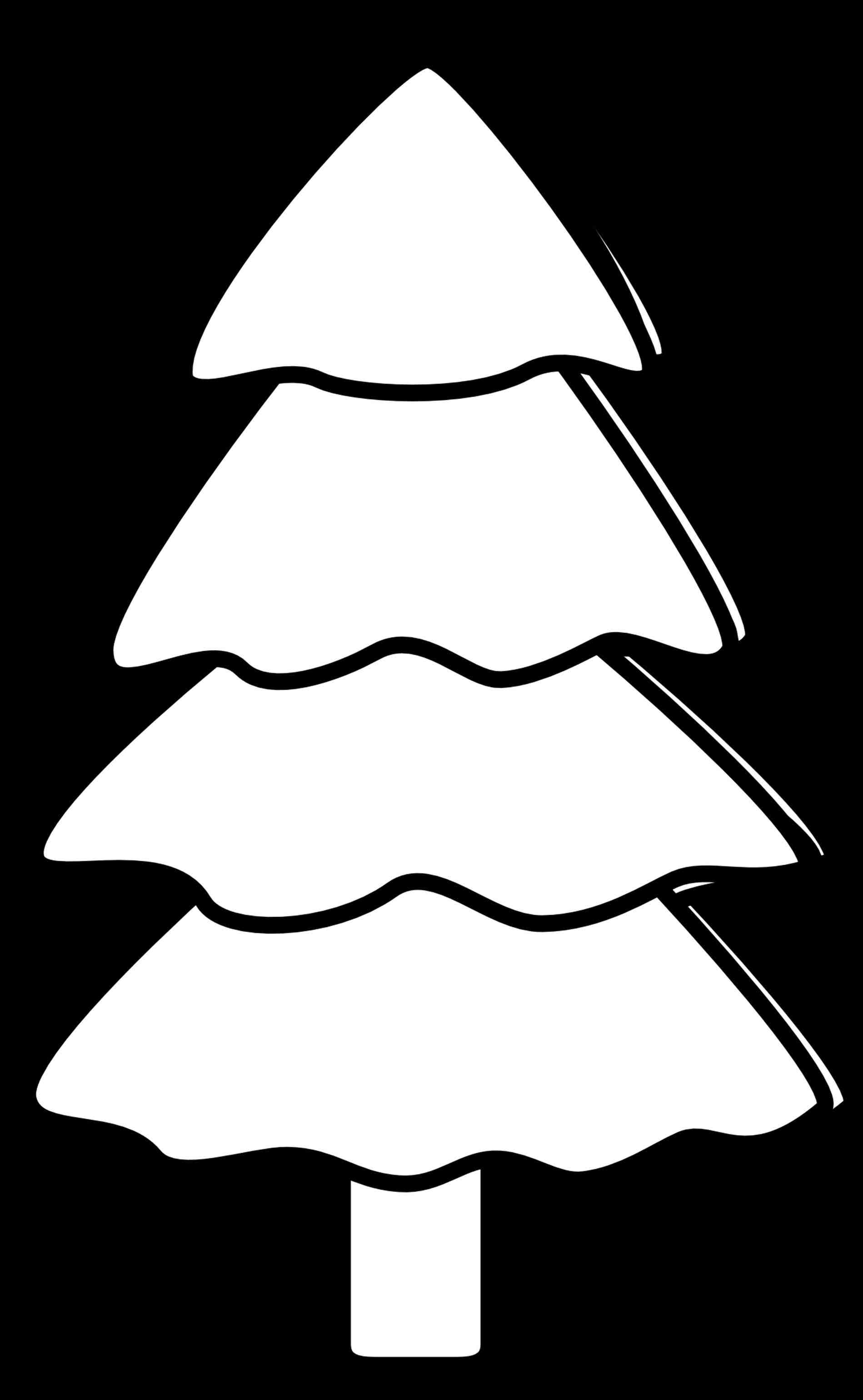 1899x3081 Clip Art Xtras Vintage Free Black And White Christmas Tree Clip