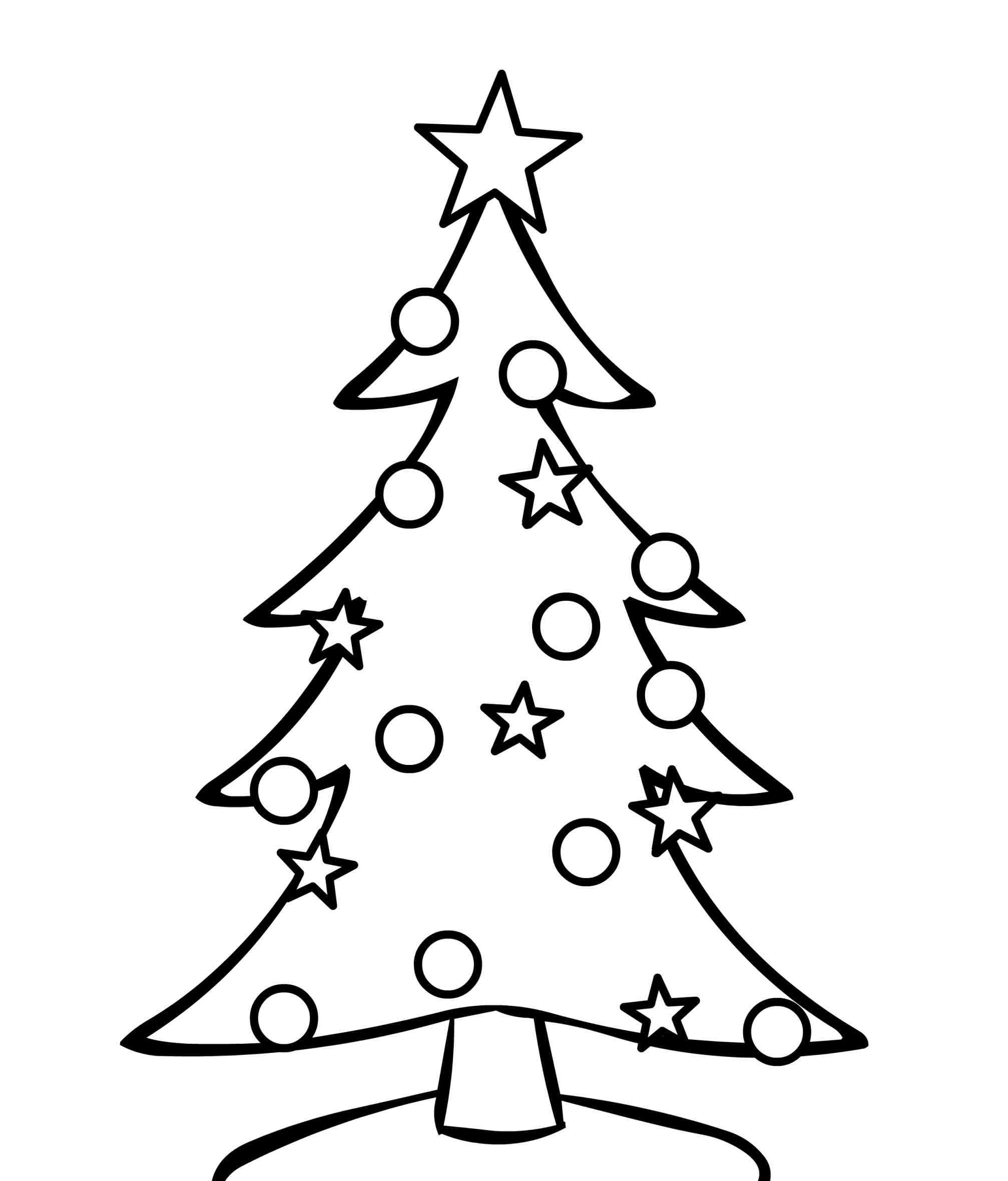 Black And White Christmas Tree Clipart | Free download on ...