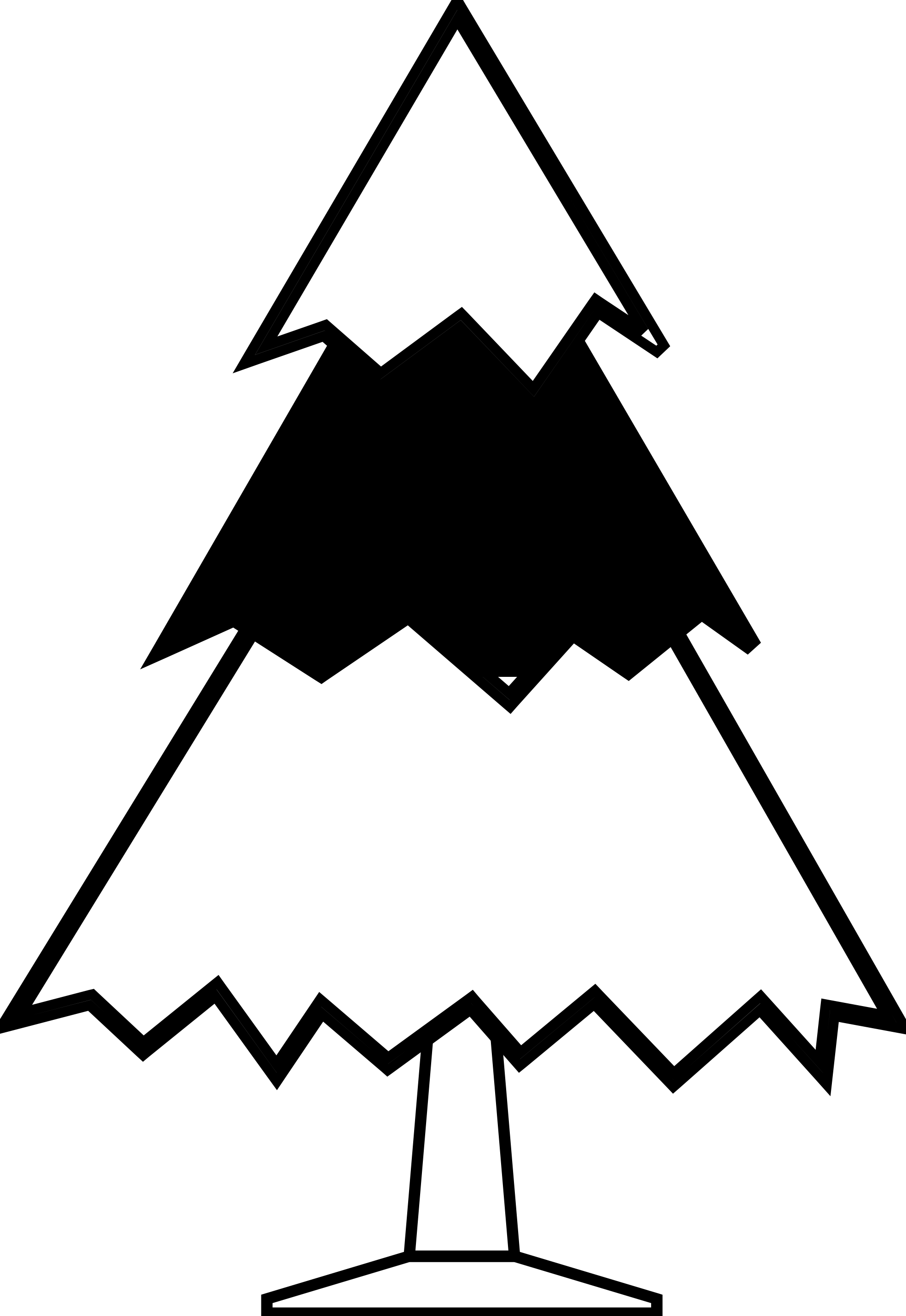 Black And White Christmas Tree Clipart | Free download best Black ...