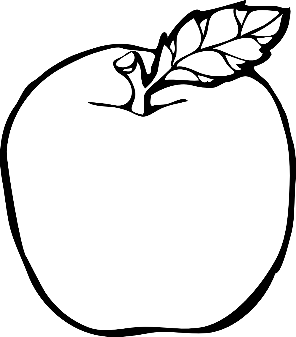 999x1136 Best Black And White Apple Clip Art