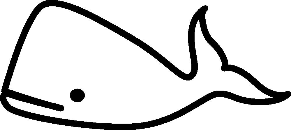 999x449 Whale Clip Art Black And White Clipart Panda