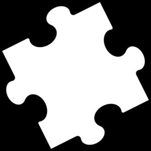 300x300 Black White Puzzle Piece Clip Art