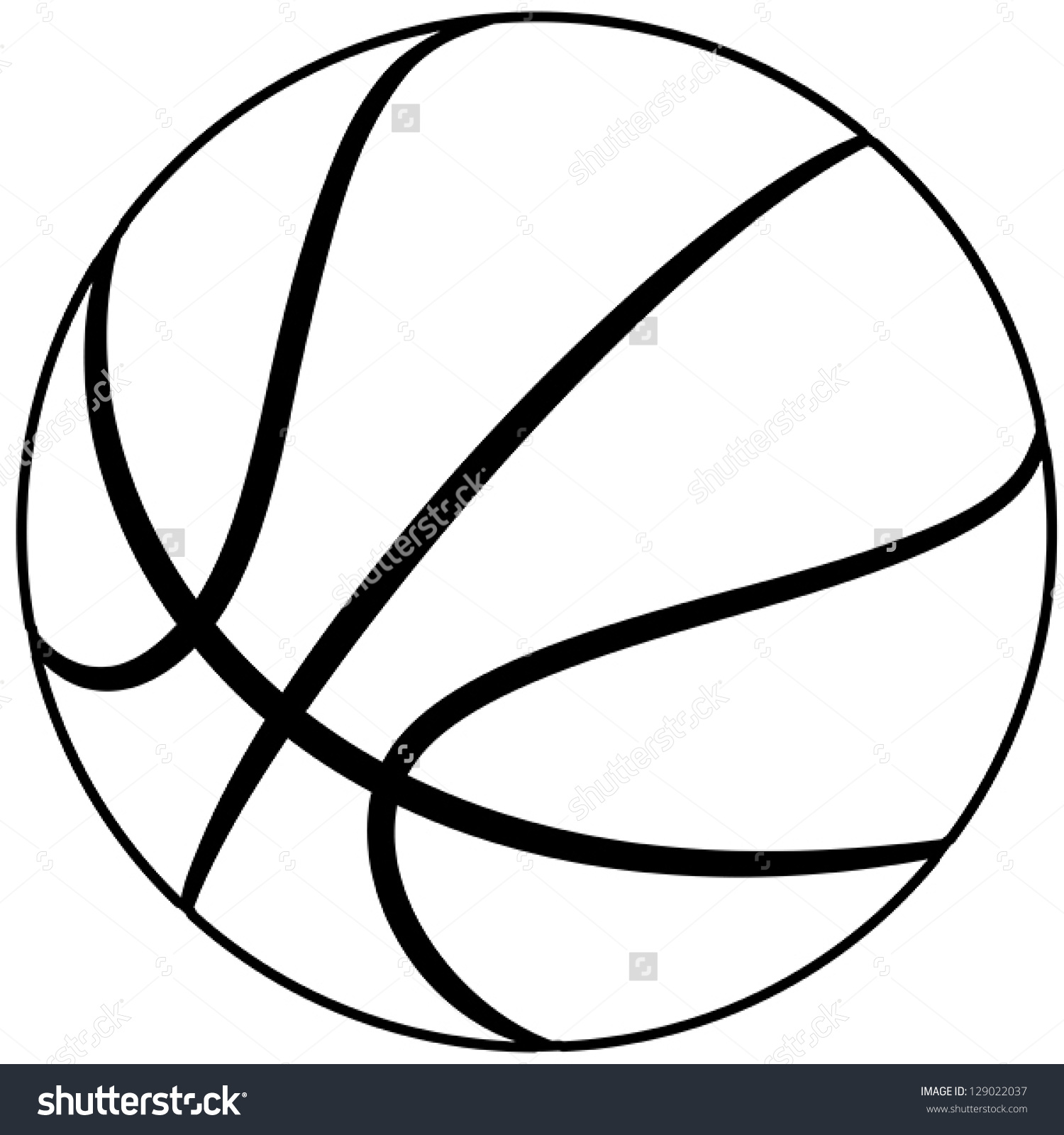 1500x1600 Basketball Outline Clip Art