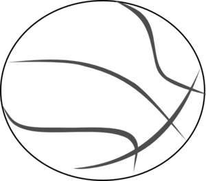 300x264 Basketball Outline Clip Art