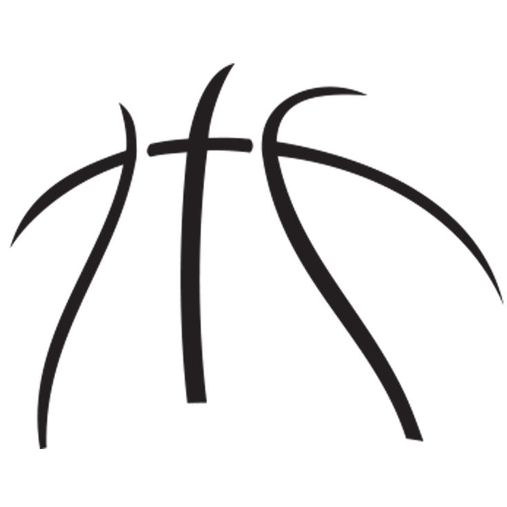 736x736 Basketball Outline