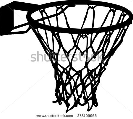 Black And White Clipart Basketball