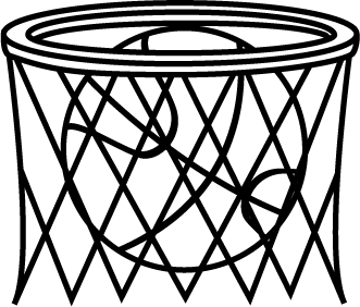 331x282 Black And White Basketball In Net Clip Art