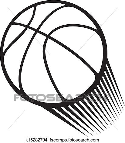 412x470 Clipart Of Basketball Ball K15282794