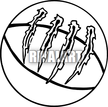 361x358 Line Clipart Basketball