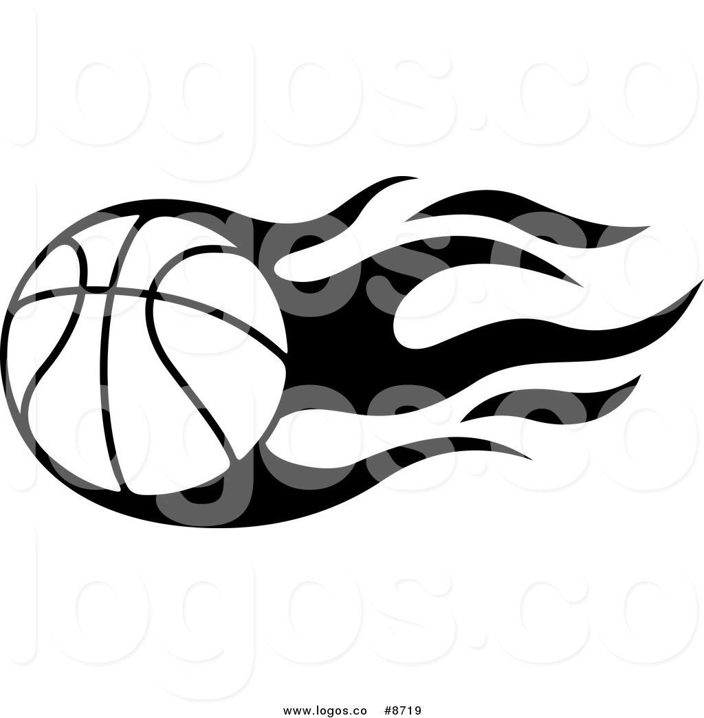 1024x1044 Royalty Free Clip Art Vector Logo Of A Black And White Flaming