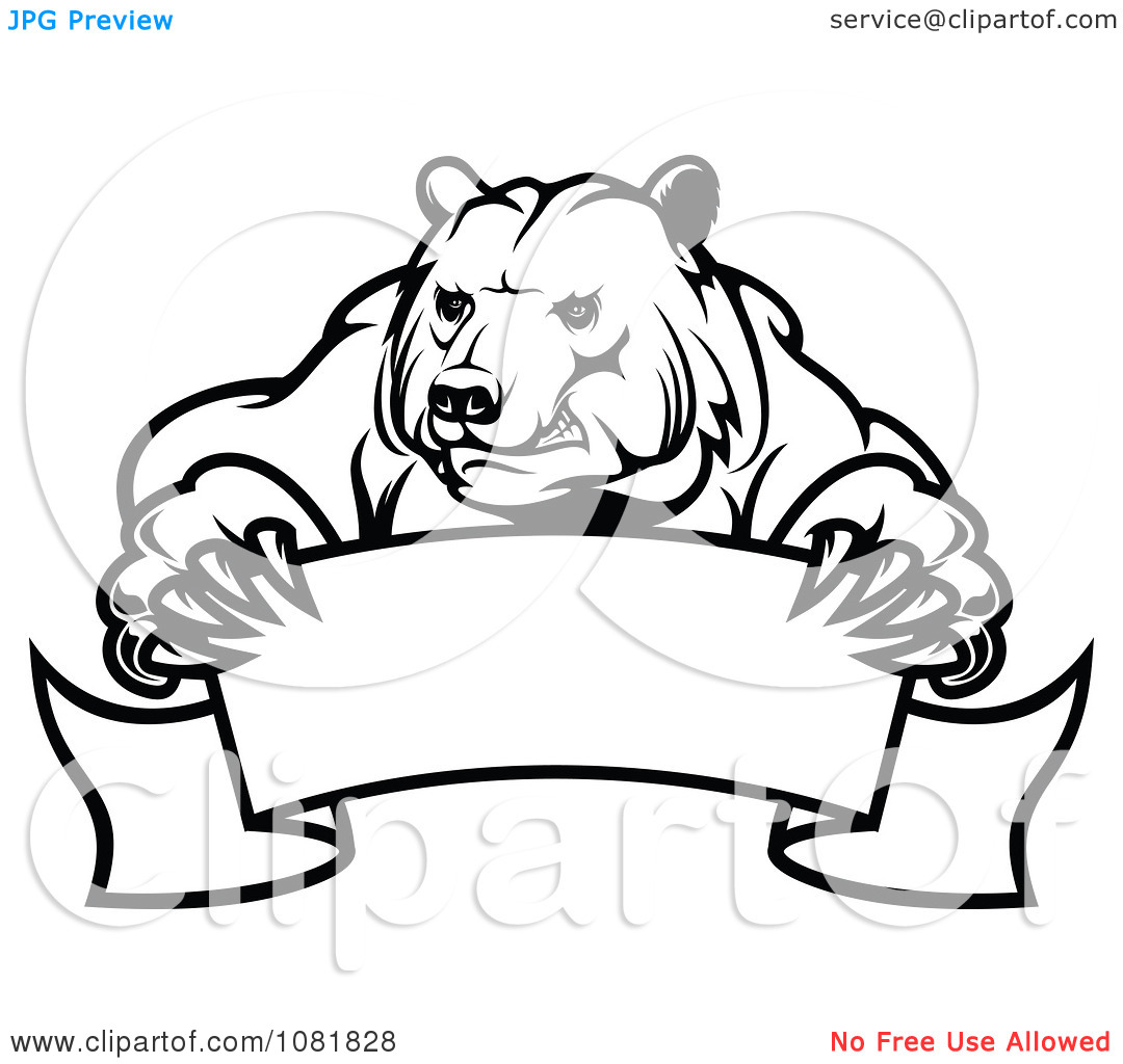 Black And White Clipart Bear