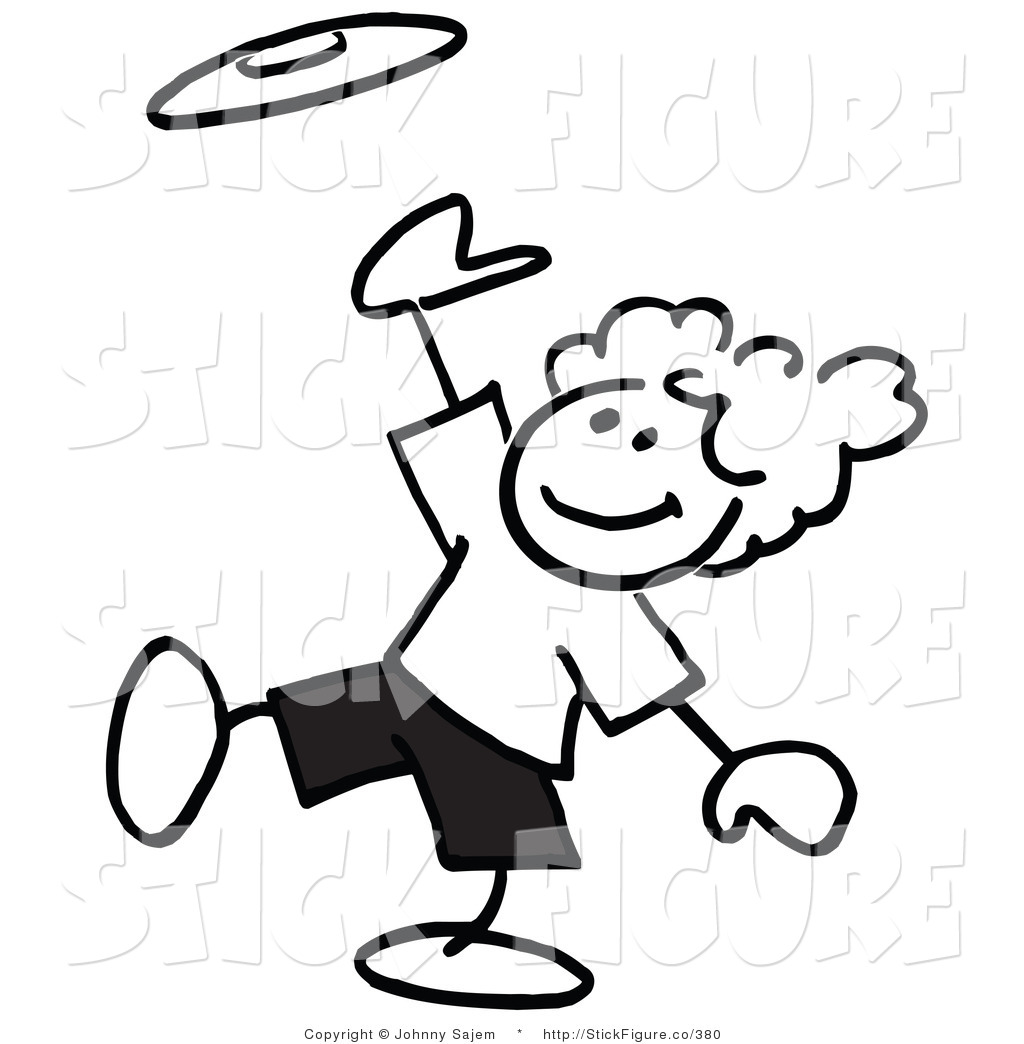 1024x1044 Clip Art Of A Black And White Stick Figure Boy Catching A Frisbee