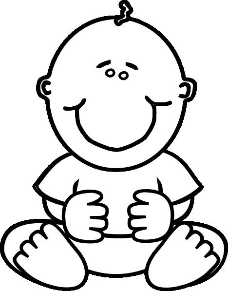 468x597 Baby Boy Clip Art