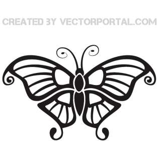 Black And White Clipart Butterfly
