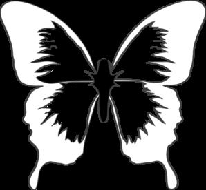 298x276 Blue Butterfly Clip Art