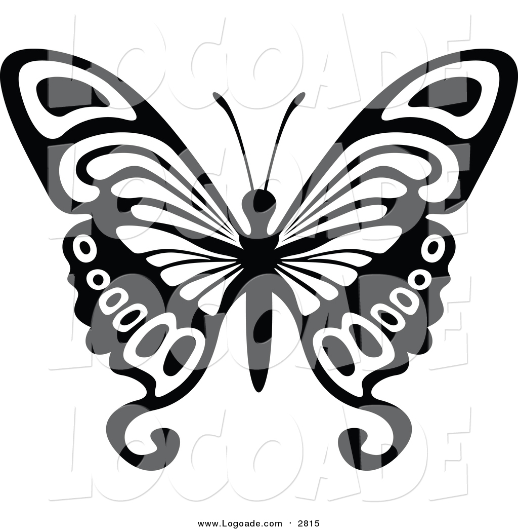 1024x1044 Clipart Of A Black And White Flying Butterfly Logo By Dero