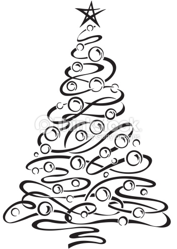 Black And White Clipart Christmas Tree Free Download Best Black
