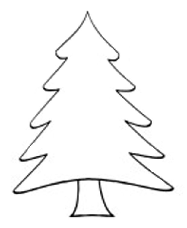 Black And White Clipart Christmas Tree Free Download On Clipartmag