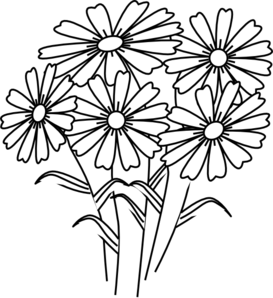 273x298 Coloring Book Flowers Clip Art