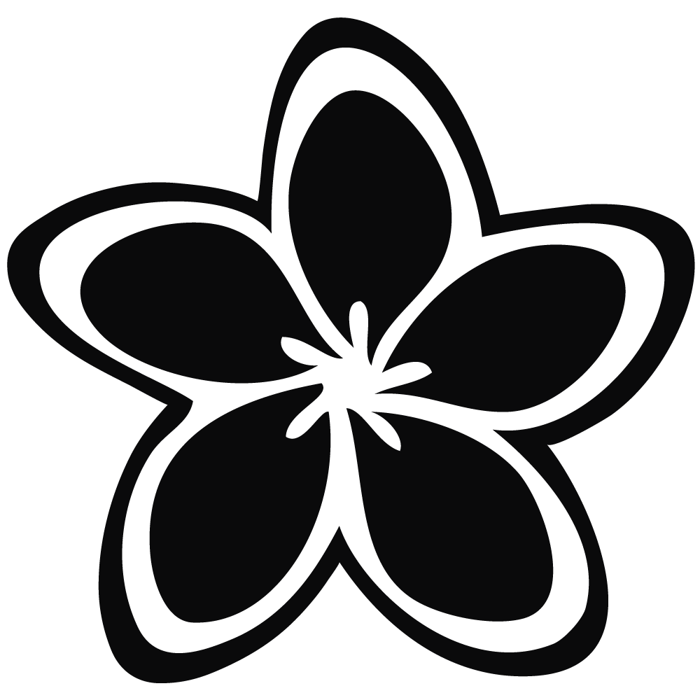 1000x1000 Jasmine PNG Black And White Transparent Jasmine Black And White