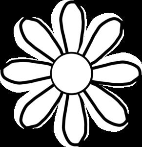 291x300 White Flower Clip Art